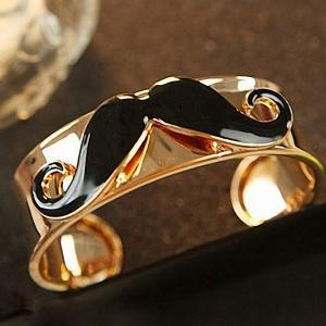 Moustache Bracelet, Cute Fashion Bl..